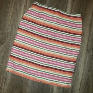 Talbots Linen Striped Pencil Skirt